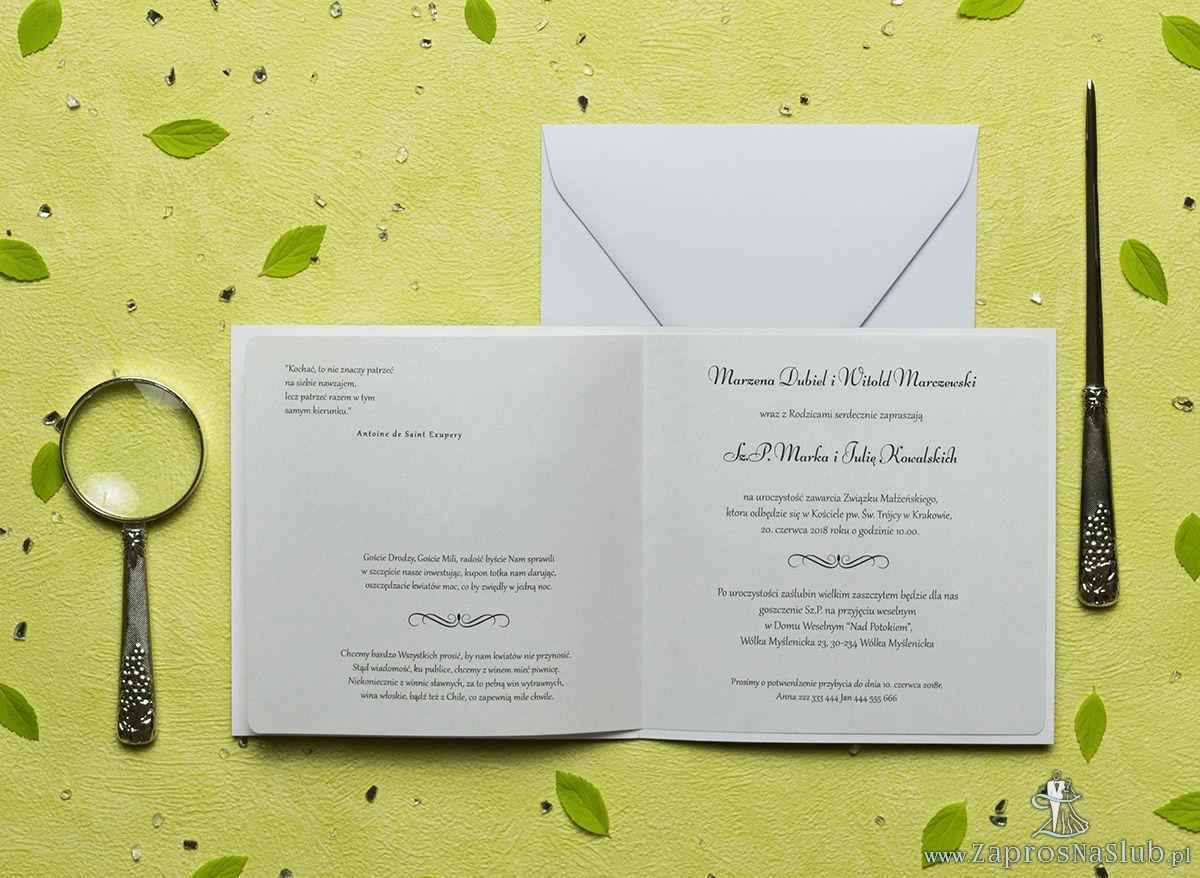 Przepiękne wiosenne zaproszenia ślubne z różowymi kwiatami łubinu oraz z cyrkonią. ZAP-60-11