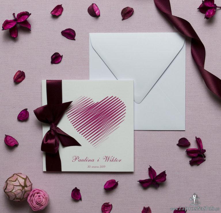 Zaproszenia ślubne Z sercem - ZaprosNaSlub - Zaproszenia ślubne