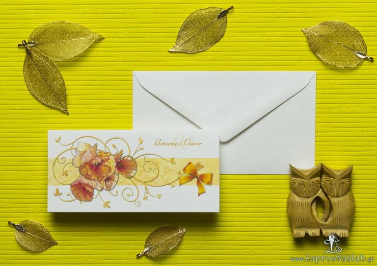 Nietuzinkowe kwiatowe zaproszenia ślubne z czerwonymi makami i motywem ozdobnym. ZAP-94-03 - ZaprosNaSlub