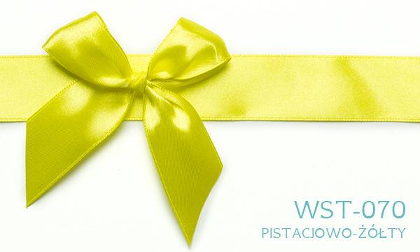Wstążka pistacjowo żółta