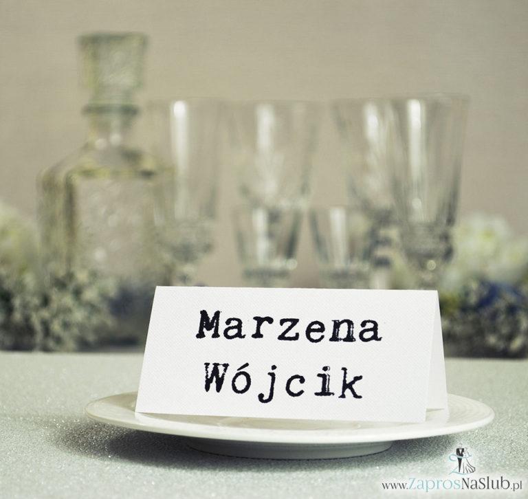 WIN-1201 Winietki ślubne, składane na pół, będące uzupełnieniem zaproszeń z wezwaniem - Zaproszenia ślubne - na ślub