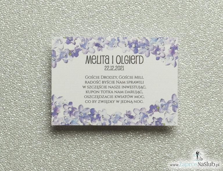 Kwiatowe bileciki do zaproszeń ślubnych – dodatkowe karteczki władane do zaproszeń z polnymi kwiatami - ZaprosNaSlub
