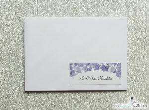 NAK-102 Kwiatowe naklejki na koperty - personalizacja kopert naklejką z kwiatami dzwonków - Zaproszenia ślubne na ślub