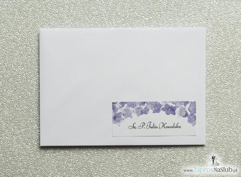 Kwiatowe naklejki na koperty – personalizacja kopert naklejką z kwiatami dzwonków - ZaprosNaSlub