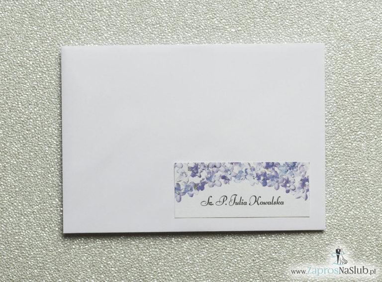 NAK-117 Kwiatowe naklejki na koperty - personalizacja kopert naklejką z polnymi kwiatami - Zaproszenia ślubne na ślub
