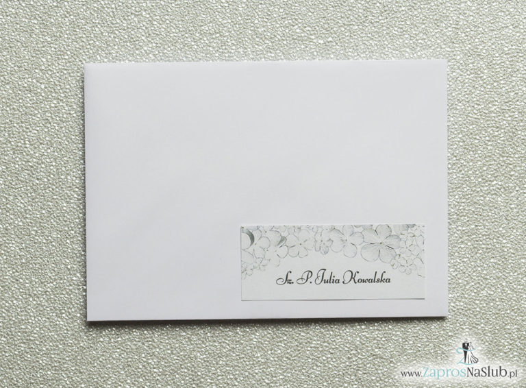 Kwiatowe naklejki na koperty – personalizacja kopert naklejką z kwiatami kaliny - ZaprosNaSlub