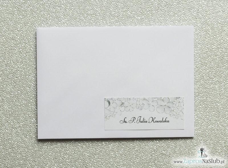 NAK-118 Kwiatowe naklejki na koperty - personalizacja kopert naklejką z kwiatami kaliny - Zaproszenia ślubne na ślub