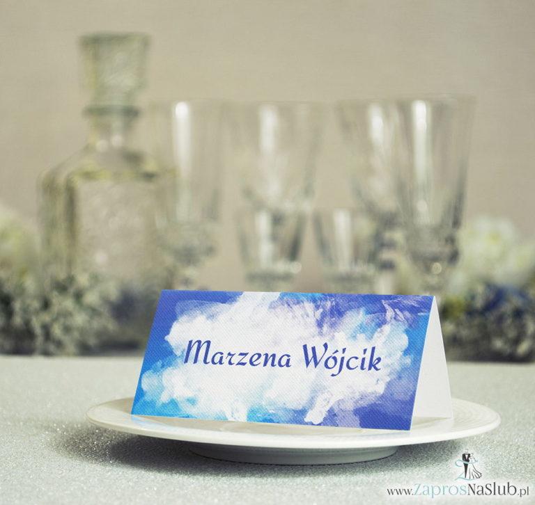 Niebiesko-fioletowe, letnie winietki ślubne z chabrem (bławatem) - ZaprosNaSlub