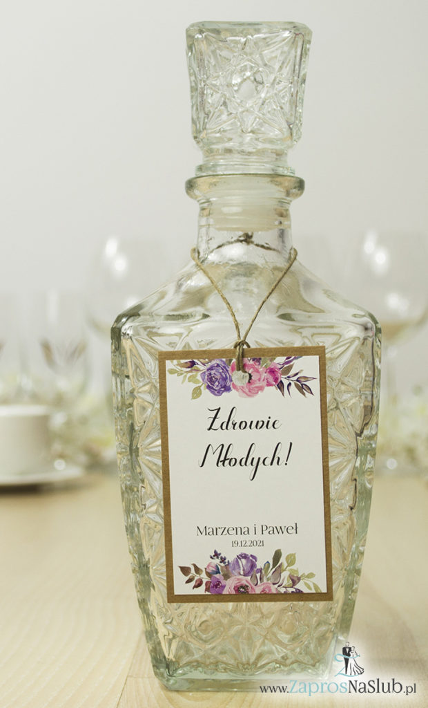 fioletowe-różowe-kwiaty-zawieszki-na-alkohol-papier-eko-kredowy