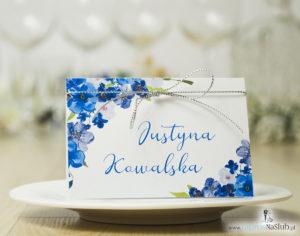 modne-winietki-ślubne-z-niebieskimi-kwiatami-i-srebrnym-sznurkiem-metalizowanym