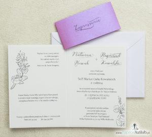 piękne-zaproszenia-ślubne-w-nowoczesnym-stylu-bardzo-modne-wnętrze-wklejane-perłowy-pasek-w-kolorze-różanym-biała-koperta
