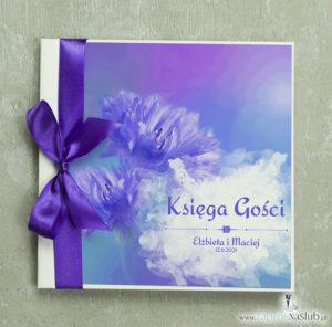 księga-gości-weselnych-z-kwiatami-chabry-bławatki-fioletowa-wstążka