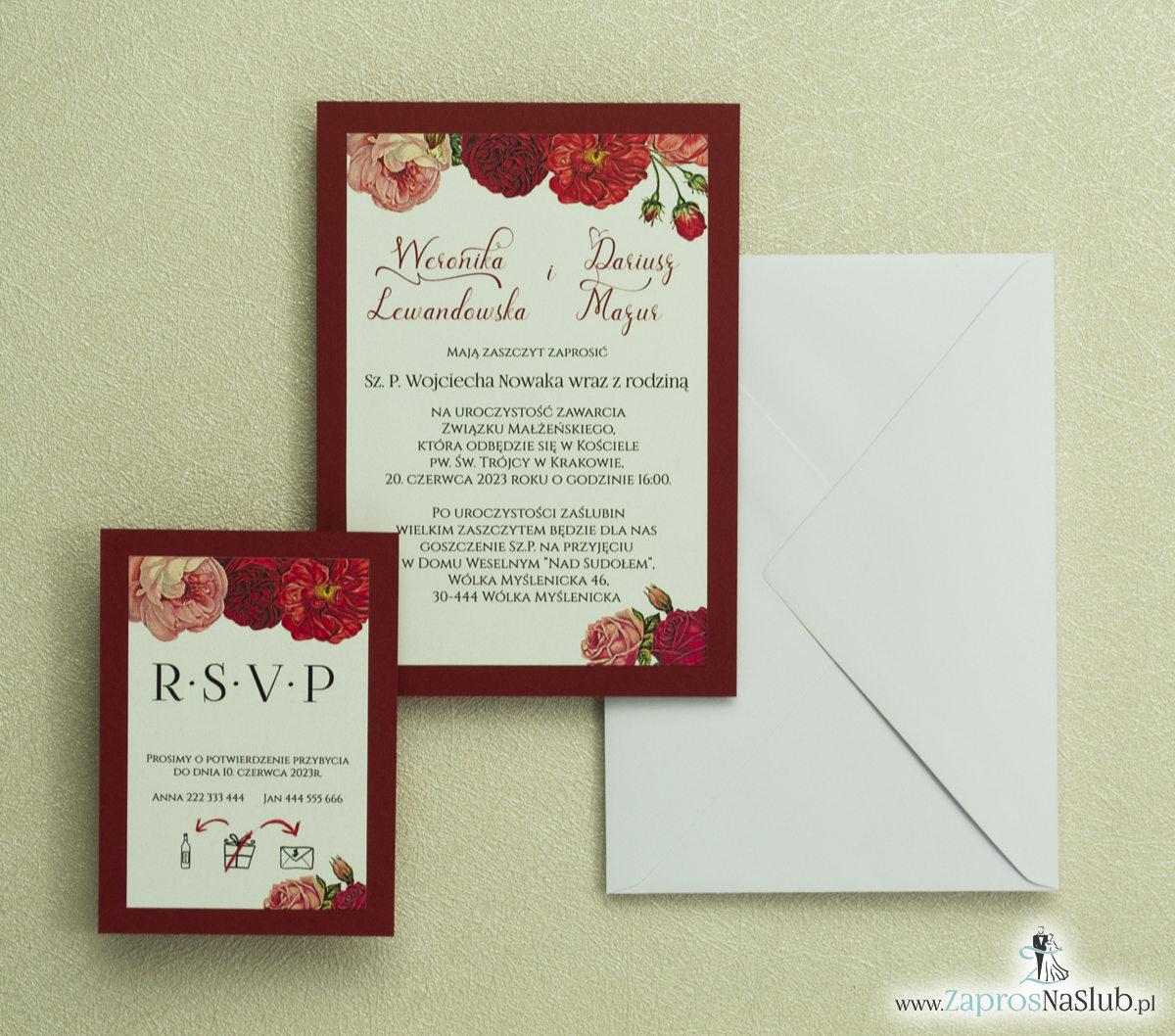 Zaproszenia ślubne kwiatowe/z kwiatami - ZaprosNaSlub - Zaproszenia ślubne