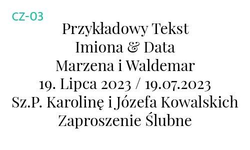 Dłuższy fragment czcionki CZ-03