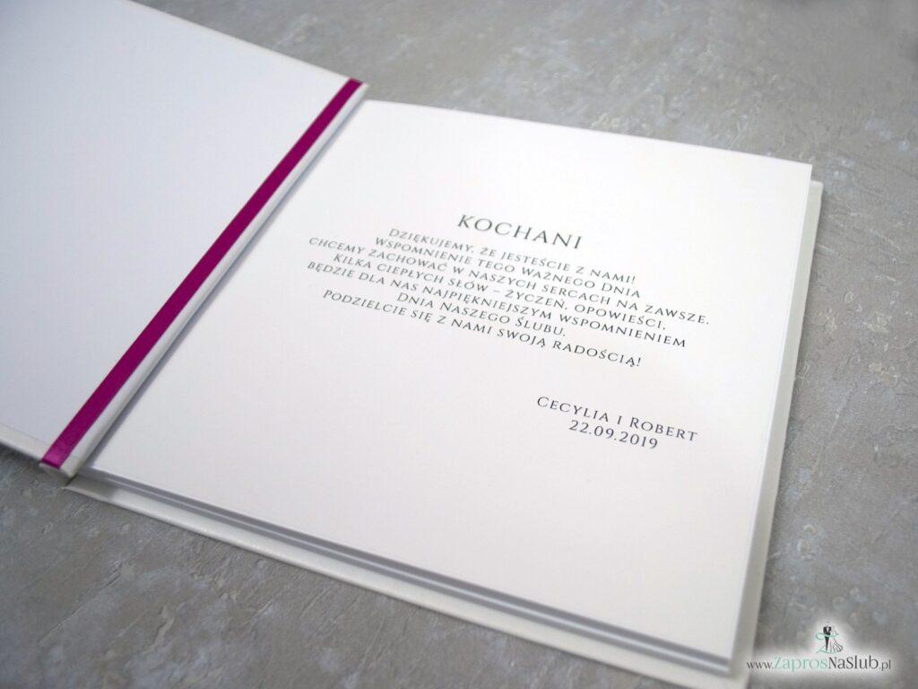 Księga gości z motywem róż bordowych i różowych - przykład wnętrza KSG-41-06