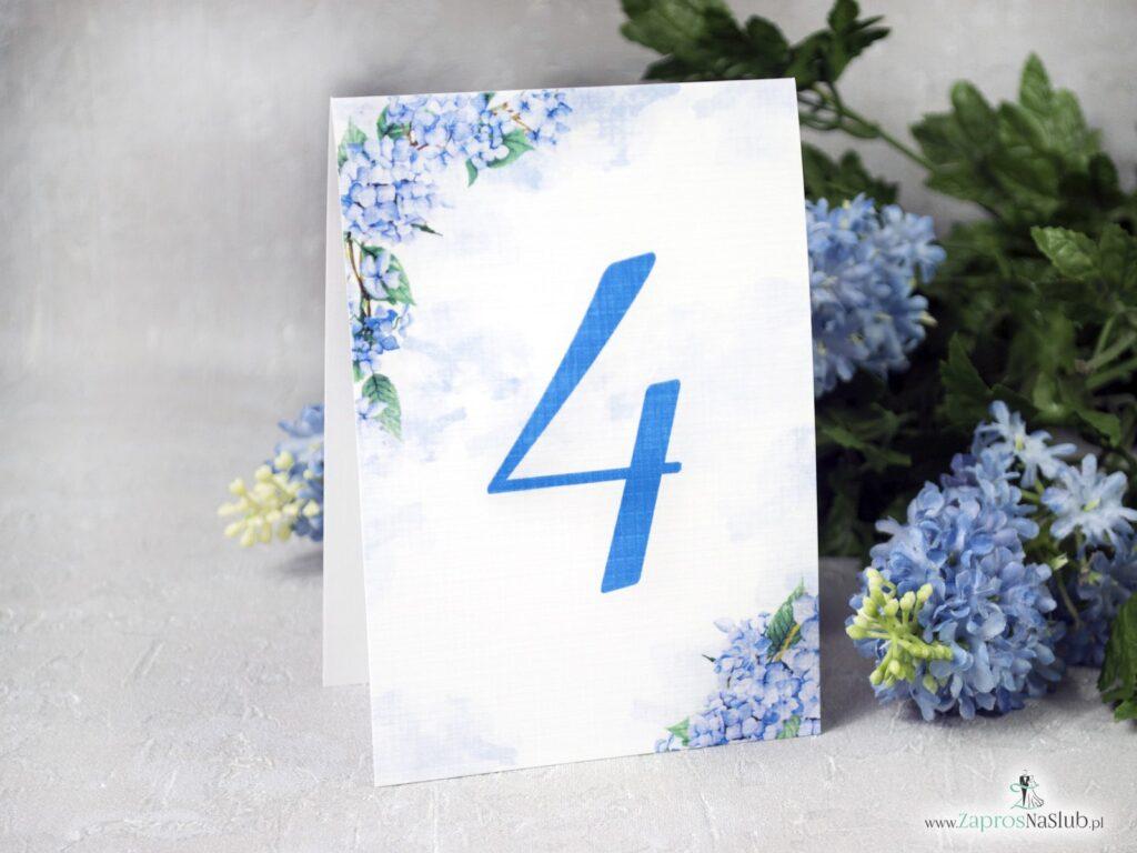 Numer na stół z motywem kwiatów hortensji NNS-41-11-min