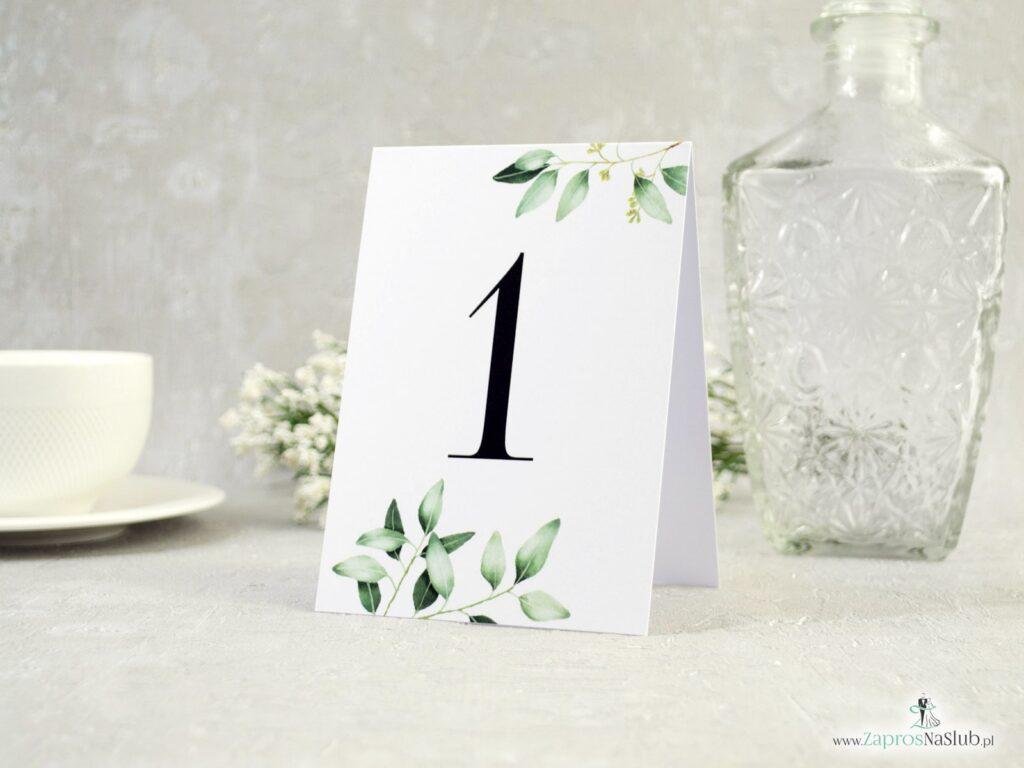 Numer stołu gałązka i zielone liście NNS-115-min