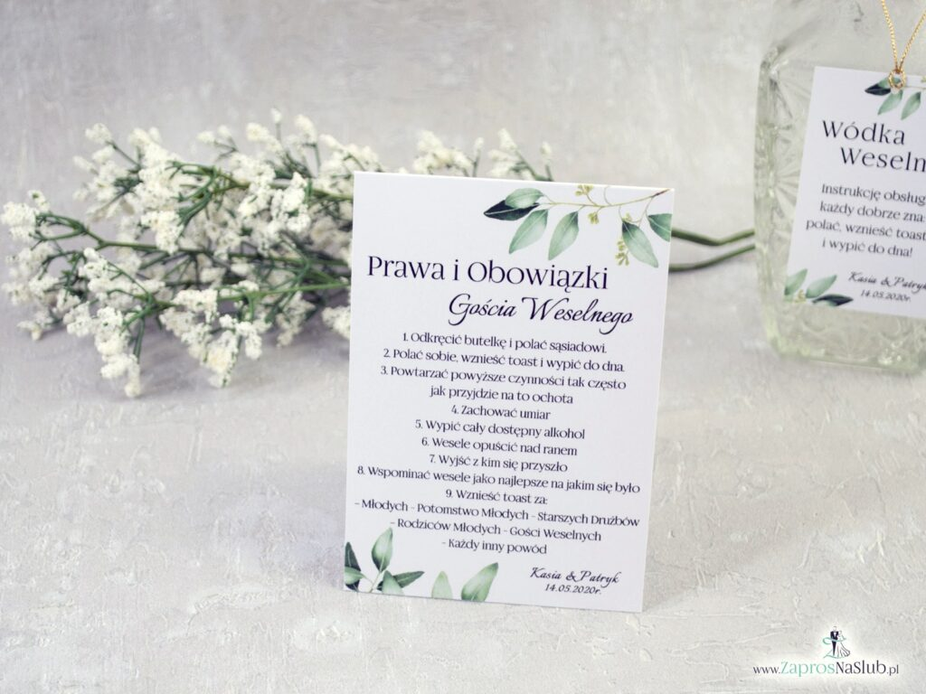 Obowiązki gościa weselnego, rustykalne, listki, gałązki PiOGW-115-min