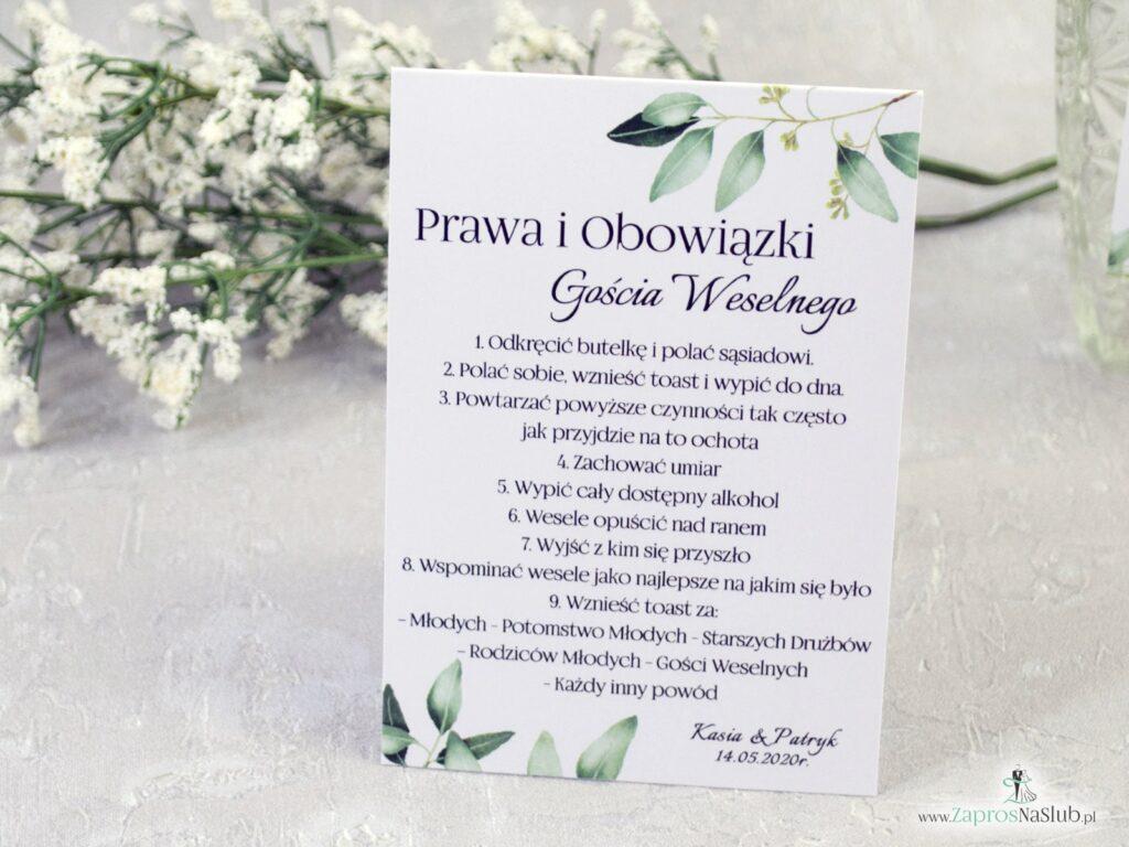 Prawa i obowiązki gościa weselnego w rustykalnym stylu z motywem zielonych listków i gałązek PiOGW-115-min