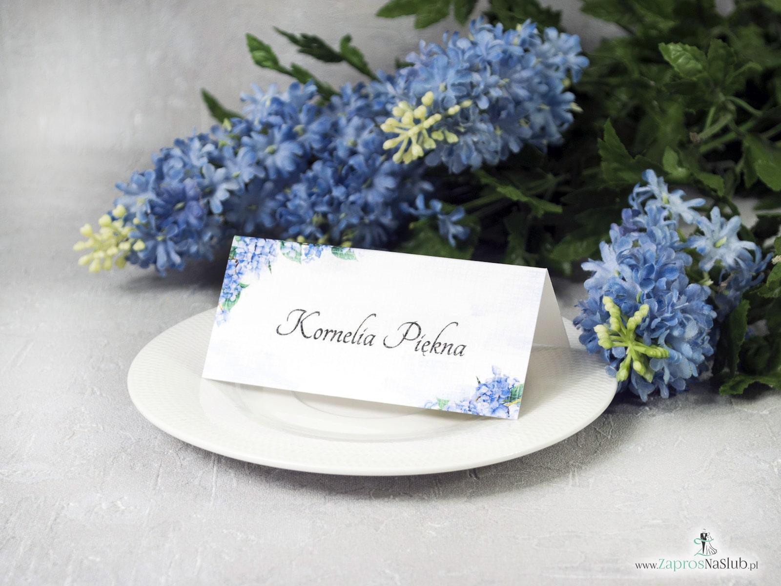 Winietka z kwiatami hortensji. WIN-41-11