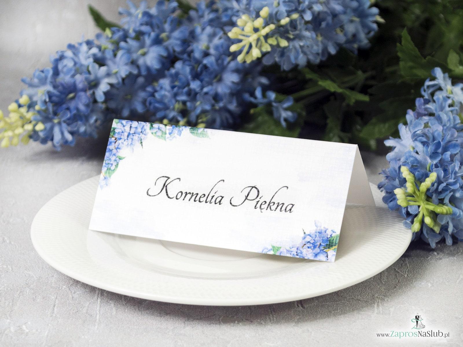 Modne zaproszenia ślubne z geometrycznym sercem i motywem kwiatów hortensji. ZAP-41-11