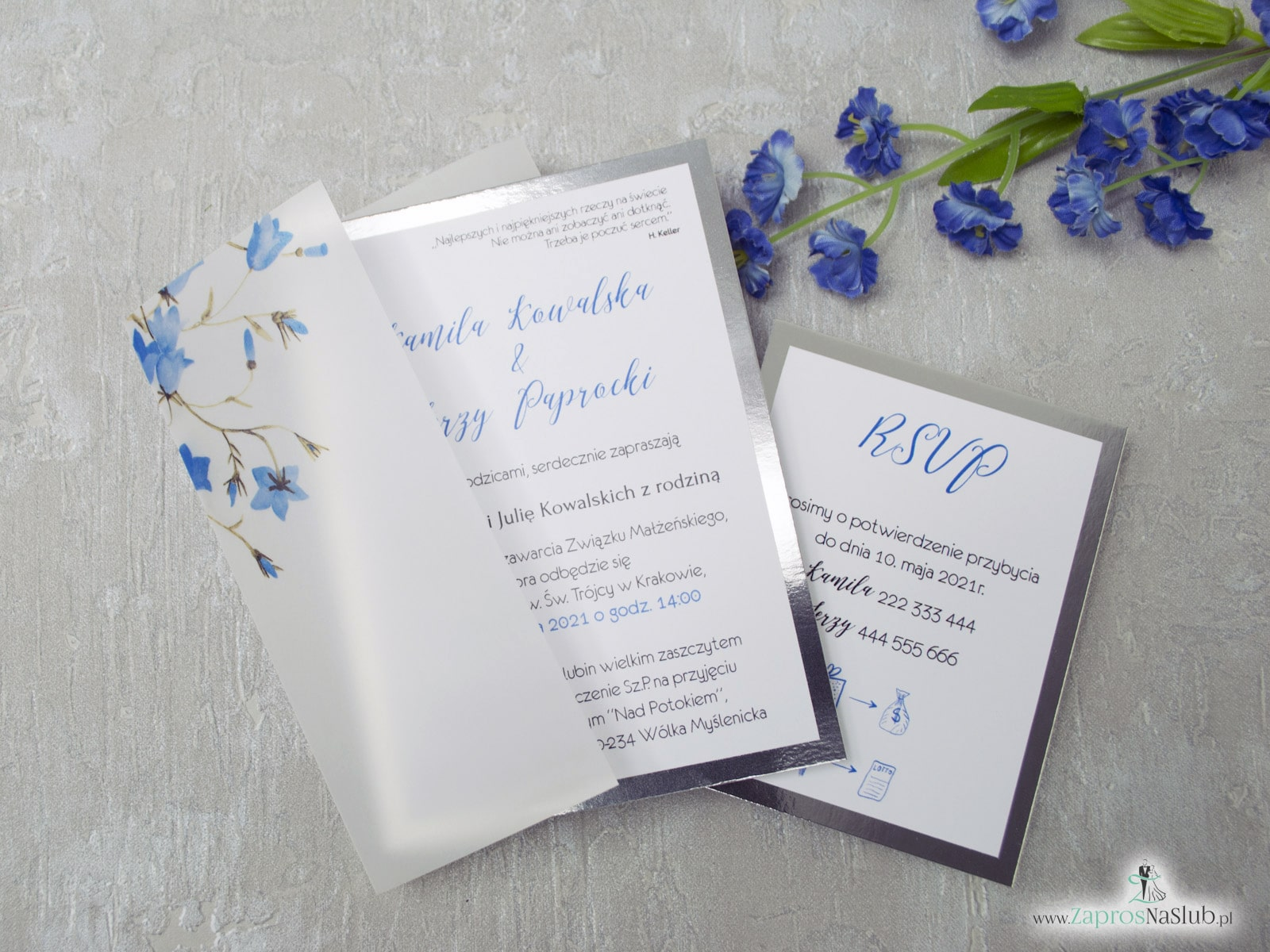 Zimowe zaproszenia ślubne ZaprosNaSlub