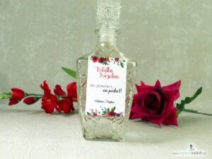 Zawieszka na alkohol z czerwonymi różami. ZAW-114-2