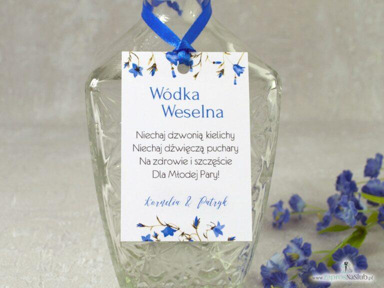 Zawieszki na wódke z kwiatami niebieskich dzwonków, kwiatowe ZAW-124-2-min
