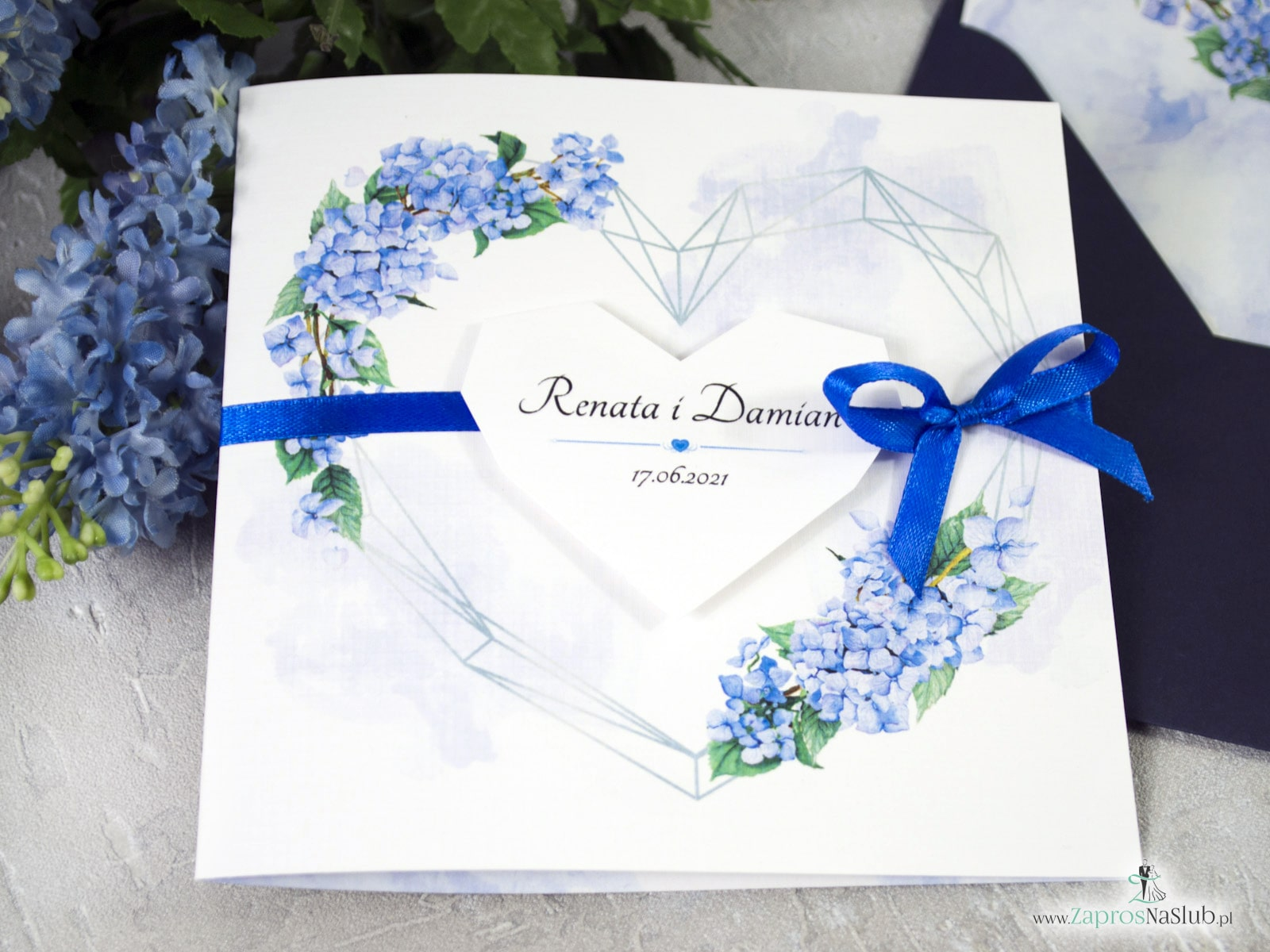 Zaproszenie ślubna Geometryczne - ZaprosNaSlub - Zaproszenia ślubne