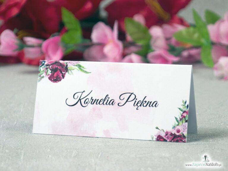 Modne winietki kwiatowe z piwoniami. WIN-41-08 - ZaprosNaSlub