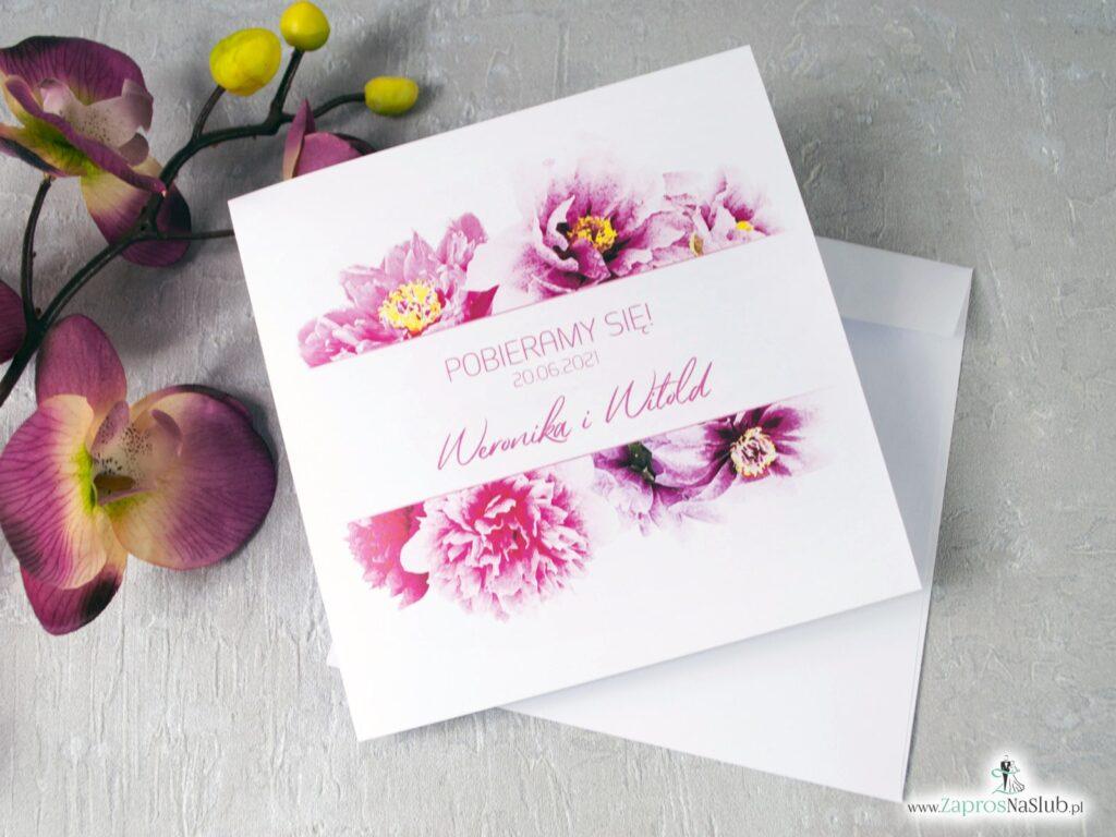 Zaproszenie na ślub kwiatowe z piwoniami ZAO-39-01-min