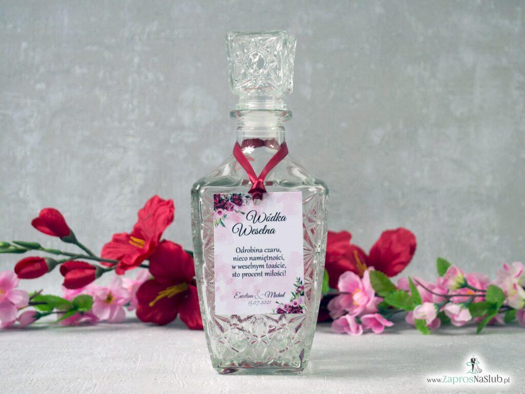 Zawieszka na alkohol z kwiatami piwonii ZAW-41-08