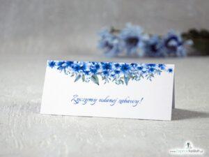 Winietki na stół z niebieskimi kwiatami WIN-41-22