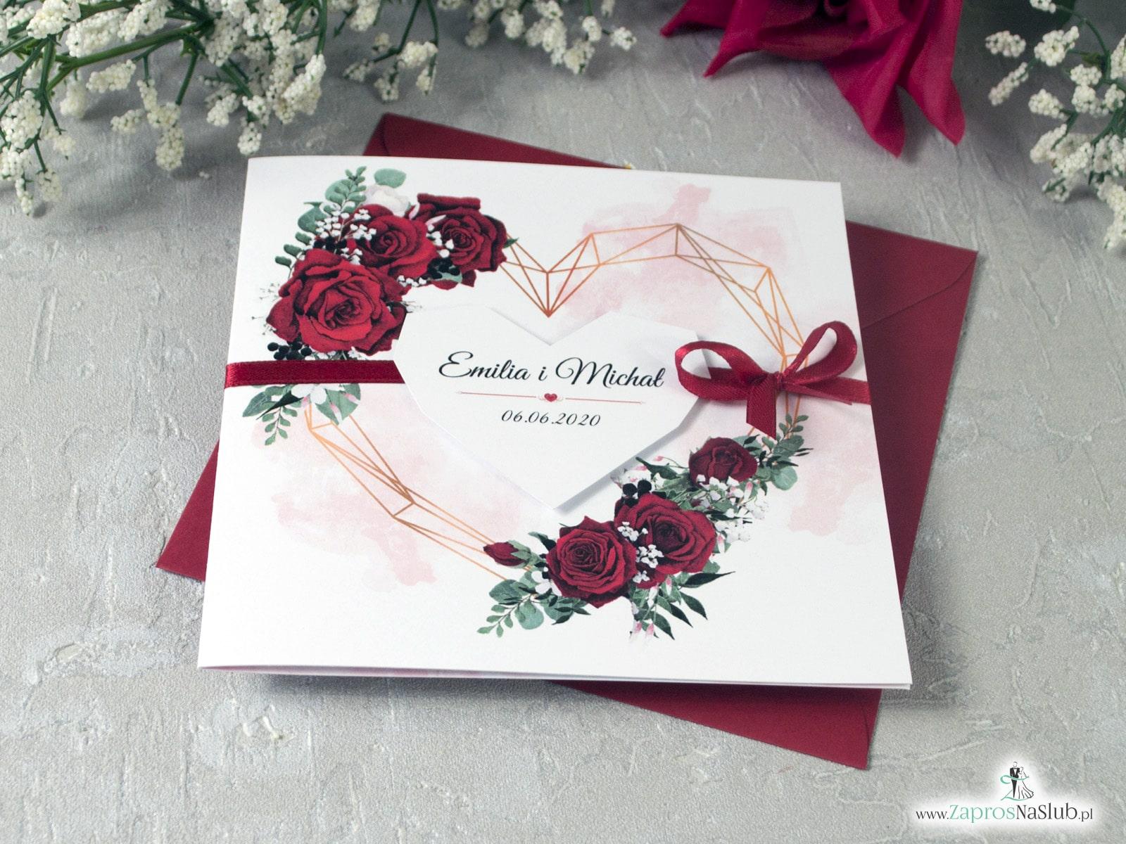 Zaproszenia ślubne ze wstążką ZaprosNaSlub