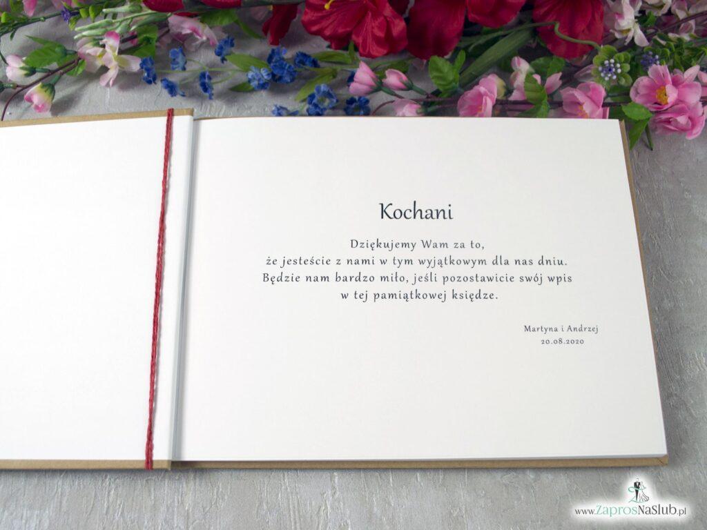 Księga gości z polnymi kwiatami eko, w stylu rustykalnym KSG-35-01
