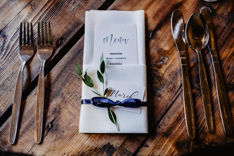 Menu na wesele - Zaproszenia ślubne ZaprosNaSlub