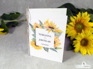 Zaproszenia ślubne słoneczniki. ZAP-133-2