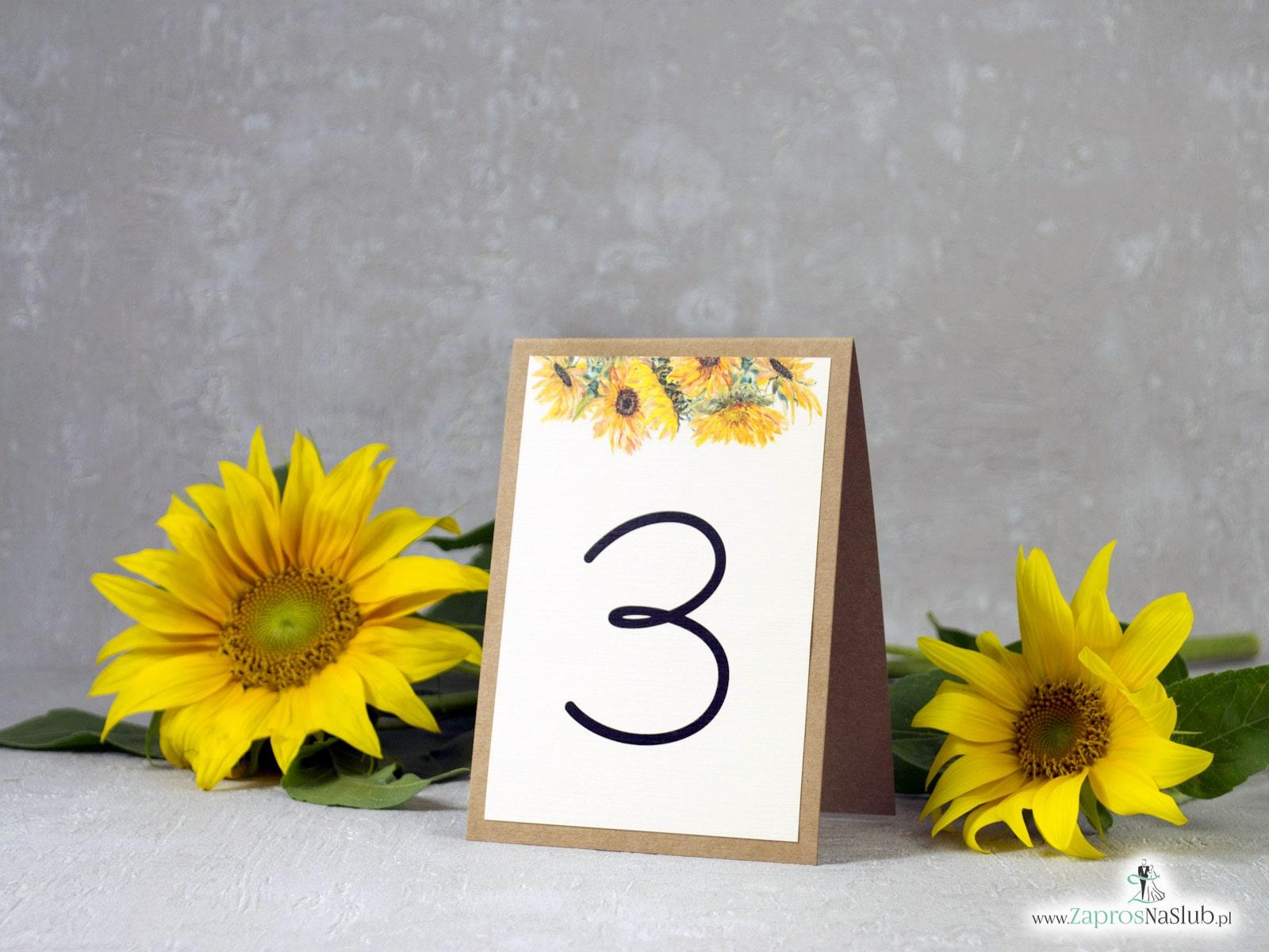 Numer na stół słoneczniki. NNS-133