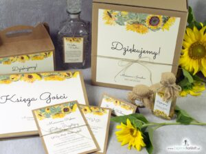 Prawa i obowiązki gościa weselnego - słoneczniki. PiOGW-133