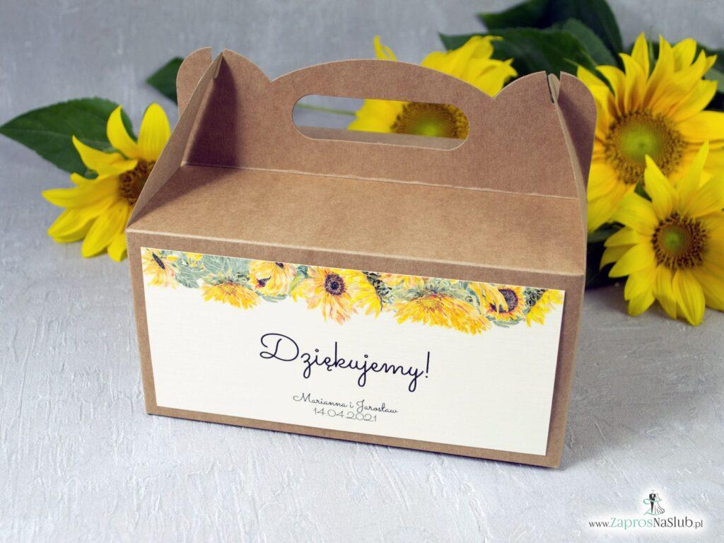Pudełko na ciasto słoneczniki PNC-133