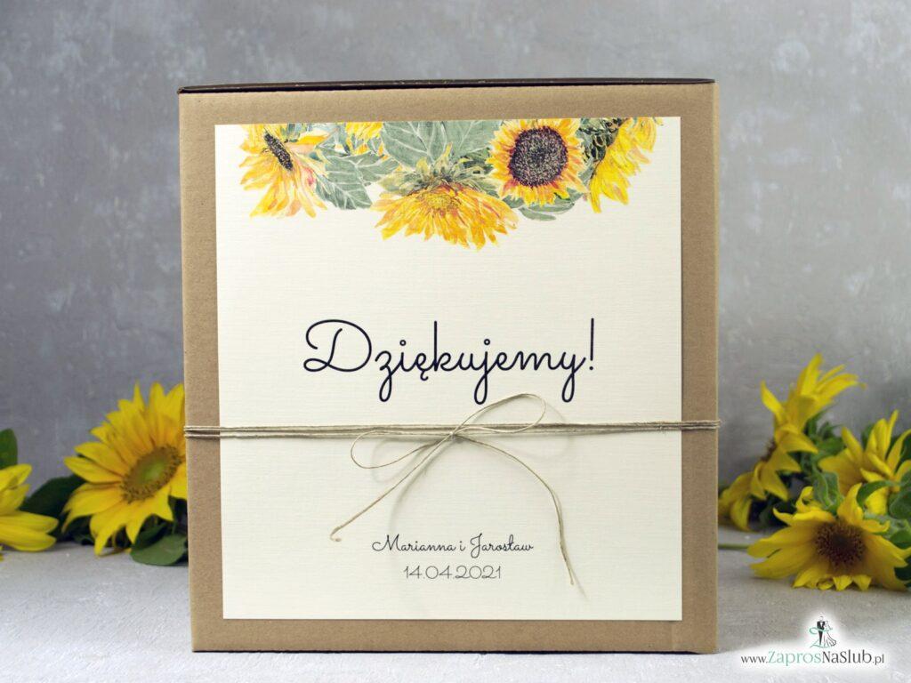 Pudełko na kopert eko z kwiatami słonecznika PNK-133