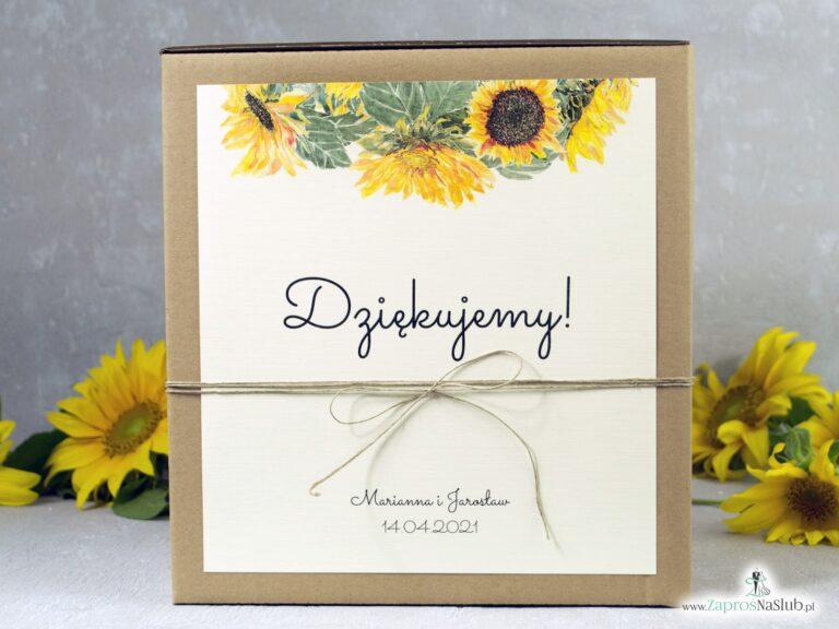 Pudełko na koperty słoneczniki. Eko pudełko na koperty PNK-133