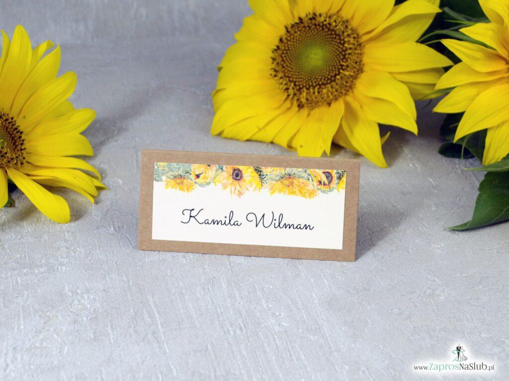 Winietka na stół ze słonecznikami na papierze eko WIN-133