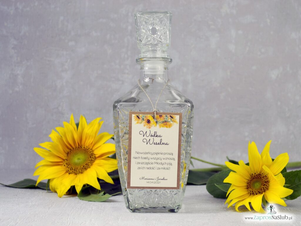 Zawieszka na alkohol słoneczniki na papierze eko ZAW-133