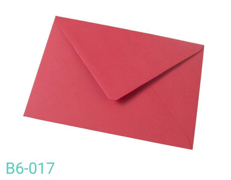 Koperta B6 Czerwona