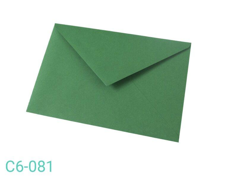 Koperta C6 Ciemno zielona