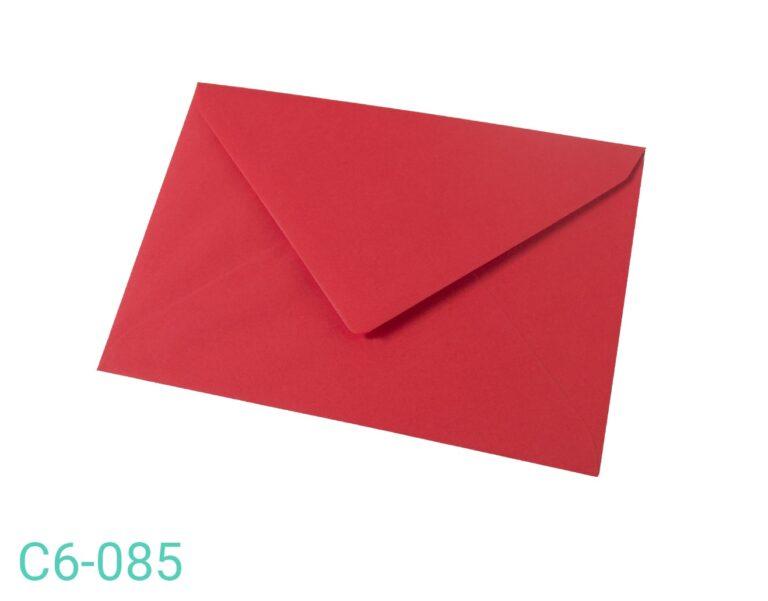 Koperta C6 Czerwona