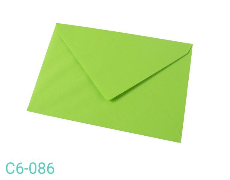 Koperta C6 Zielona