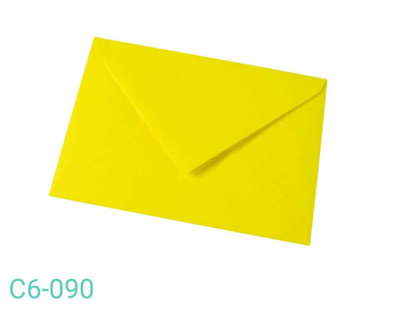 Koperta C6 Żółta