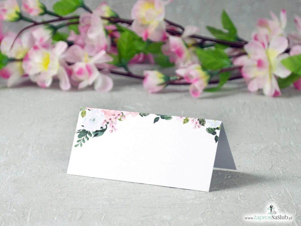Różowe winietki z kwiatami WIN-41-12